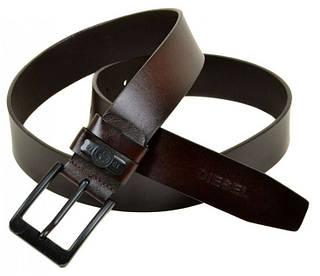 Мужской модный кожаный ремень V0036 brown (коричневый) 4 см