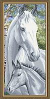 """Схема для вышивки бисером """"Лошадь с жеребенком"""""""