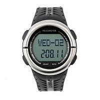 Часы спортивные DG1058HR с шагомером (пульсомер, секундомер, таймер, будильник). Водозащита 3АТМ