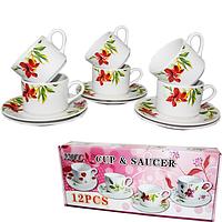 Набор чайный 12пр Садовые цветы SNT 533-23