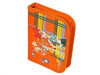 Пенал USLON 701-S Дівчинка, 1 змейка, шелкография помаранчевий, Пн 004а.12