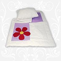 """Комплект в детскую кроватку """"Аппликация"""" (одеяло+подушка) 110х140"""