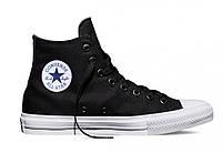"Кеды Converse All Star Chuck Taylor II High ""Black White"" - Высокие ""Черные Белые"""