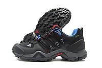 Кроссовки мужские Adidas Gore-Tex черные с серым (адидас гортекс)