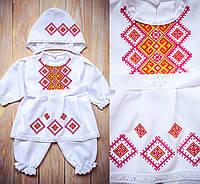 Крестильная одежда для девочки ''Геометрия цветов''