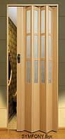 Дверь-гармошка пластиковая SYMFONY (бук) 2,03*0,86 м