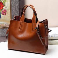 Стильная сумка из натуральной кожи, 5 цветов