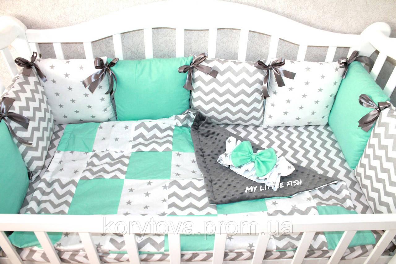 Бортики в кроватку подушками своими руками 24