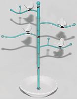 777-029 Вешалка для украшений Птички 36,5 см, голубой антик