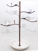 777-030 Вешалка для украшений Птички 36,5 см, серый антик