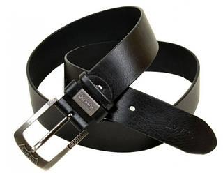 Мужской кожаный ремень 442842 black (черный) 4 см