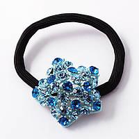 Резинка Звездочка с голубыми камнями Сваровски