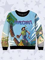 Детская толстовка на весну/осень для мальчиков с ярким принтом Minecraft art.