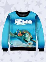 Детский Свитшот/Толстовка Finding Nemo с принтом героев популярного мультфильма.