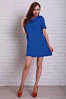 Короткое платье синее