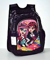 Ранец-рюкзак школьный для девочки. Ортопед. Монстер Хай черный 1-3 класс