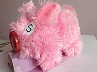 Копилка свинка плюшевая танцует и издает звуки 23*17 см