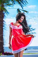 Шелковое неоновое платье