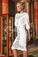 Белый костюм кофта/юбка