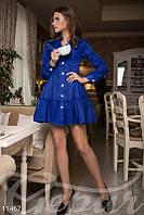 Легкое синее платье