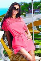 Розовое платье туника