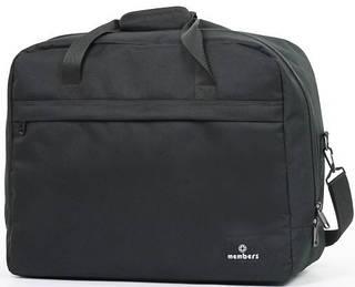 Прочная сумка дорожная из полиэстера Members Essential On-Board Travel Bag 40 Black, 922782, черный