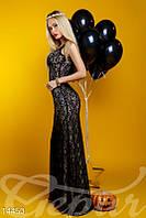 Вечернее гипюровое платье
