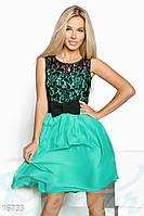 Шифоновое мини-платье