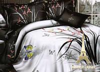Комплект постельного белья Семейный  Love You 3D Сатин  День и ночь stp 007