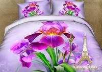 Комплект постельного белья Семейный  Love You 3D Сатин  Ирис stp 896