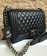 Сумка , Клатч реплика   Chanel Le Boy 26см в цвете черный