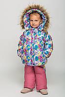 Комбинезон на девочку для зимы 8221 Т.малина-лиловый