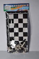 Шахматы картонное поле+ платиковые фигуры
