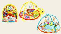 Коврик для малышей 615/620 с мягкими погремушками на дуге