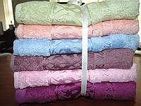 Бамбуковые полотенца ERMET 70*140 в ассортим