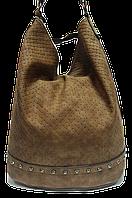 Сумка женская коричневая мешок