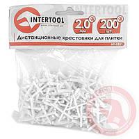 Дистанционные крестики для плитки 2 мм (200 шт/уп) INTERTOOL HT-0351