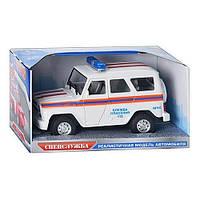 Машинка модель УАЗИК 9076 F/ 9067 F «Служба спасения», инерционная, звуковые, световые эффекты