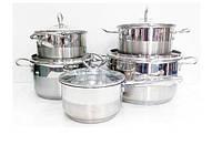 Набор посуды кухонный (кастрюли) 10шт    А-Плюс 1295