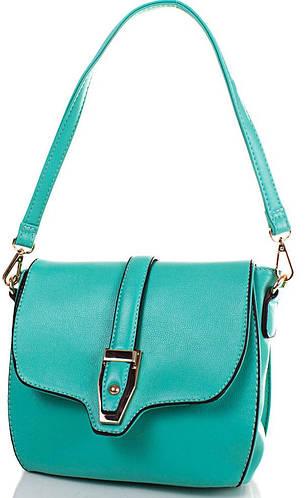 Красивая сумка-клатч из качественного кожзаменителя ANNA&LI (АННА И ЛИ) TUP14256-4 (зеленый)