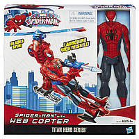 Человек Паук и паутинный вертолет, Титаны - Spider man, web Copter, Titans, Hasbro
