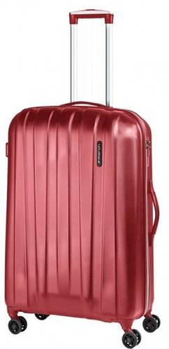 Дорожный 4-колесный пластиковый чемодан, средний 72 л. MARCH Rocky 3652/82 красный/серый