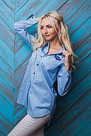 Модная женская рубашка на пуговичках, фото 1