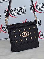 Стильный сумочка в стиле Chanel (Шанель) со стразами.
