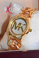 """Наручные часы """"Michael Kors"""" браслет- цепь, золотистые."""