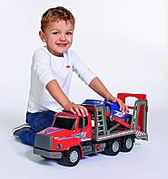 """Большая машина автопогрузчик. Dickie Toys 22"""" Air Pump Action Car Transporter Truck Vehicle"""