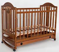 Кроватка детская Наполеон NEW с ящиком орех, Ласка-М