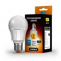 LED лампа VIDEX A60 15W  E27 3000K 220V
