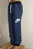Детские спортивные штаны для подростка. Цвет джинс. Код 36-40.