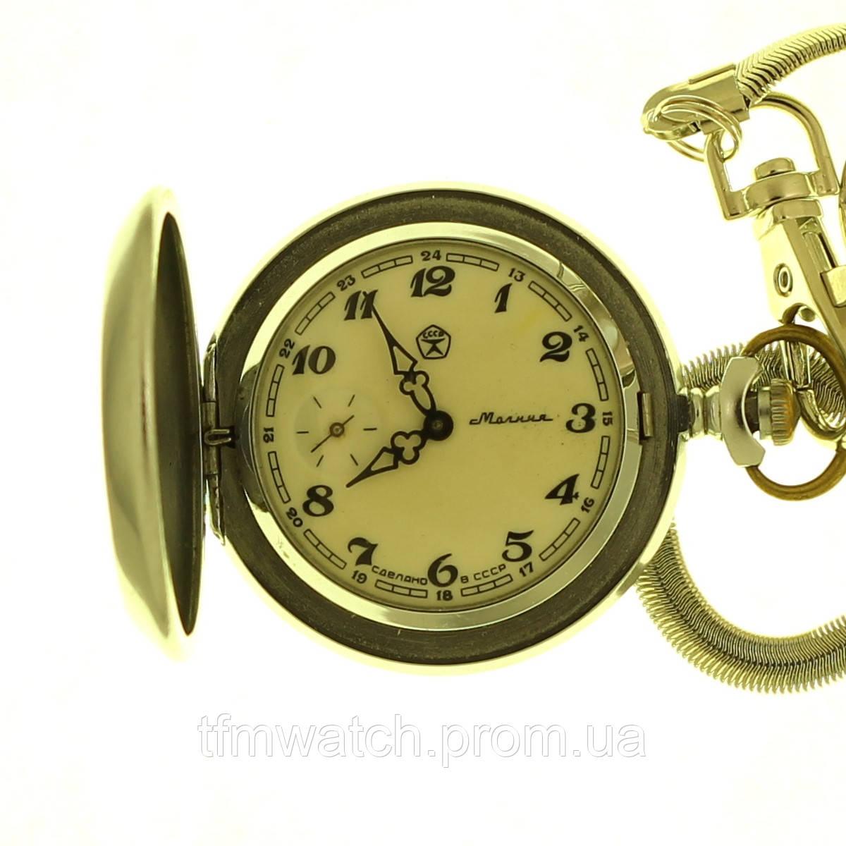 Молния Глухари карманные механические часы СССР
